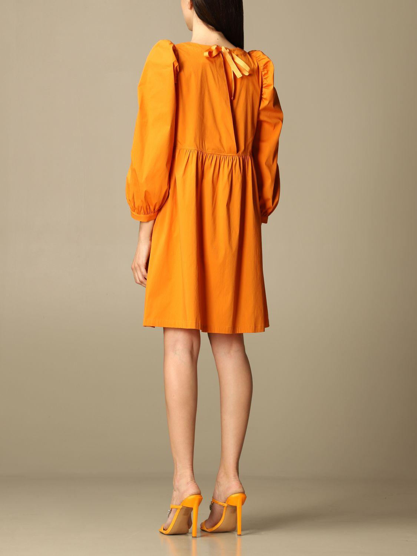 Kleid Semicouture: Kleid damen Semicouture orange 2