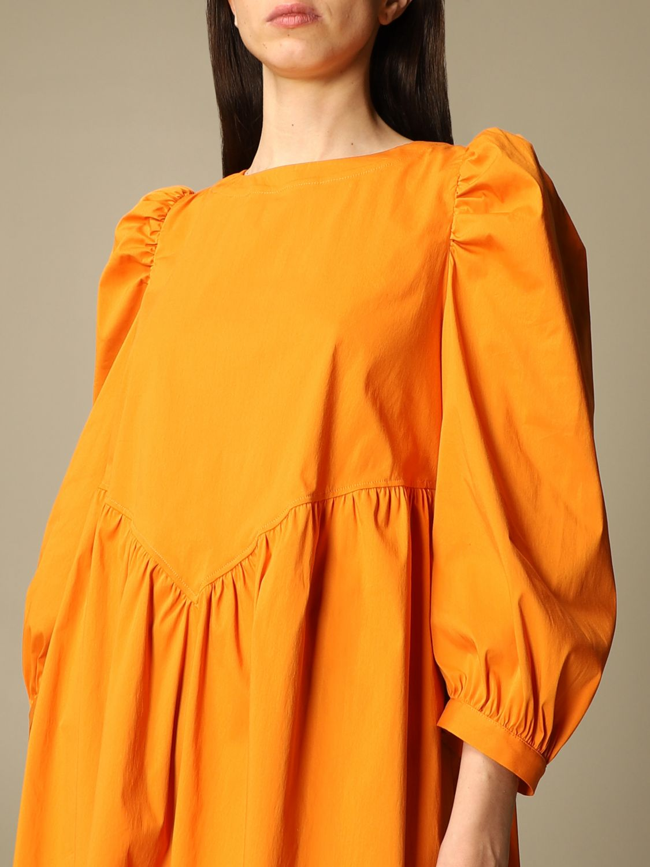 Kleid Semicouture: Kleid damen Semicouture orange 3