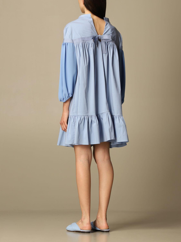 Kleid Semicouture: Kleid damen Semicouture hellblau 2