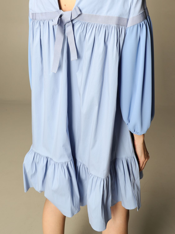 Kleid Semicouture: Kleid damen Semicouture hellblau 3