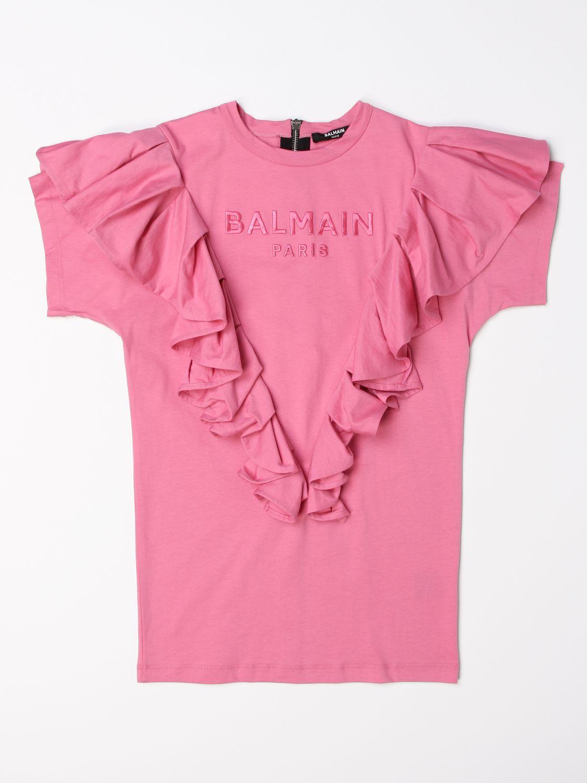 Vestido Balmain: Vestido niños Balmain rosa 1