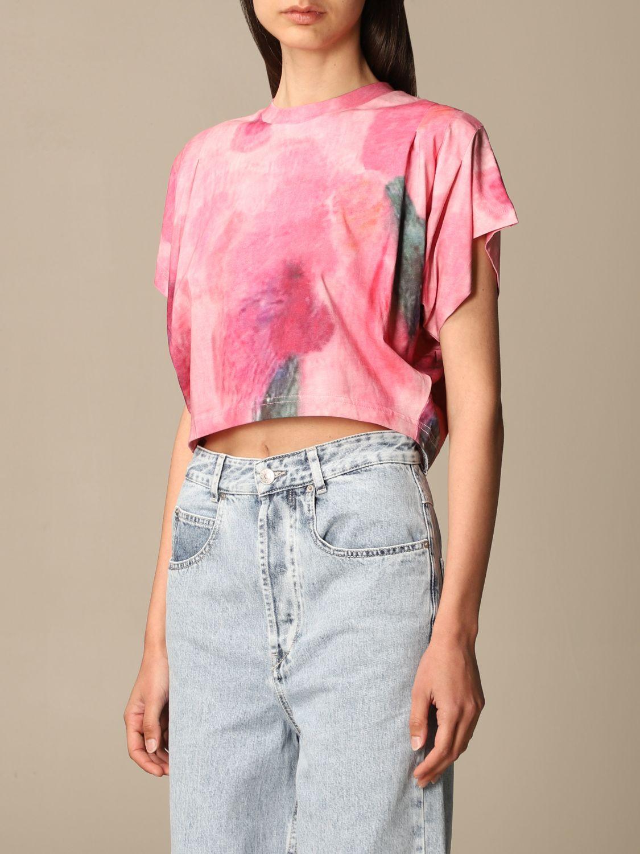 T-Shirt Isabel Marant: T-shirt damen Isabel Marant pink 4