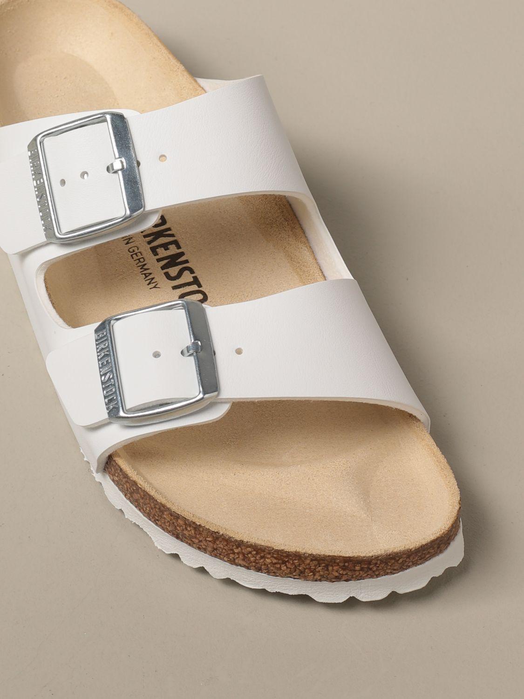 Sandales Birkenstock: Chaussures homme Birkenstock blanc 4