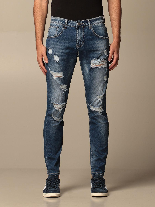 Jeans Alessandro Dell'acqua: Jeans men Alessandro Dell'acqua denim 1