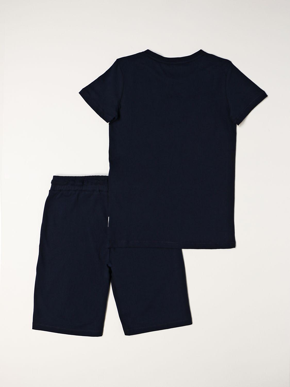 Completo Bikkembergs: Completo t-shirt + bermuda Bikkembergs blue navy 2