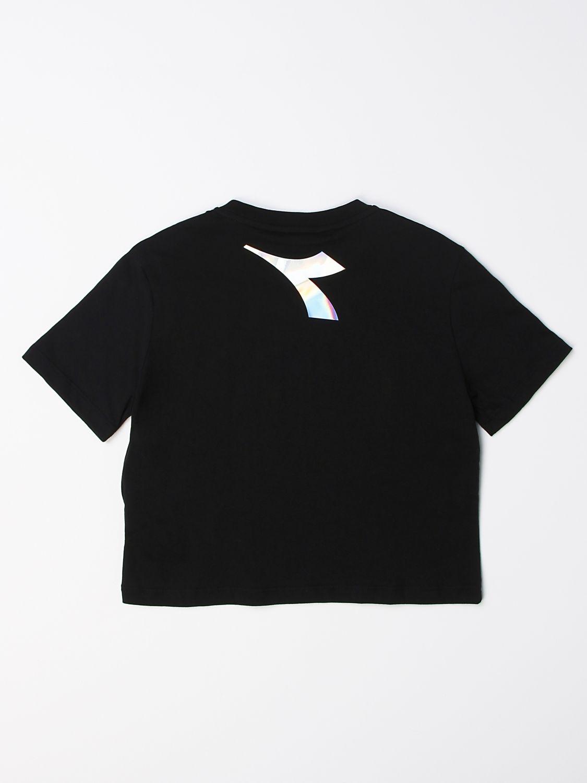 Camisetas Diadora: Camisetas niños Diadora negro 2