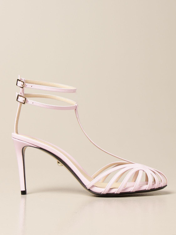 Sandali con tacco Alevi: Sandalo Alevi in vernice rosa 1