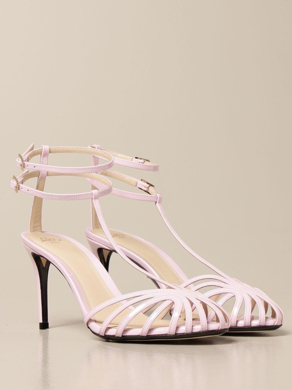 Sandali con tacco Alevi: Sandalo Alevi in vernice rosa 2
