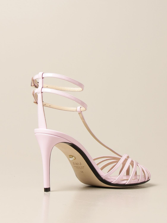 Sandali con tacco Alevi: Sandalo Alevi in vernice rosa 3