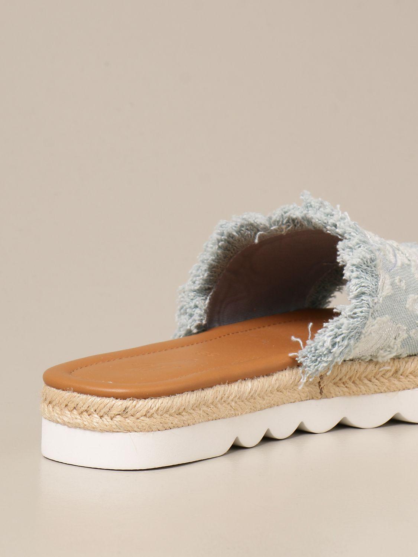 Flache Sandalen Manila Grace: Schuhe damen Manila Grace denim 3