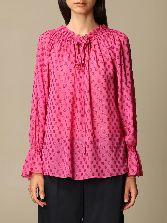 Top L'autre Chose: Hemdbluse damen L'autre Chose pink 1