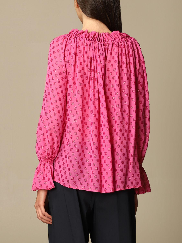 Top L'autre Chose: Hemdbluse damen L'autre Chose pink 3