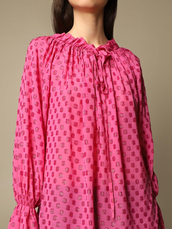 Top L'autre Chose: Hemdbluse damen L'autre Chose pink 5