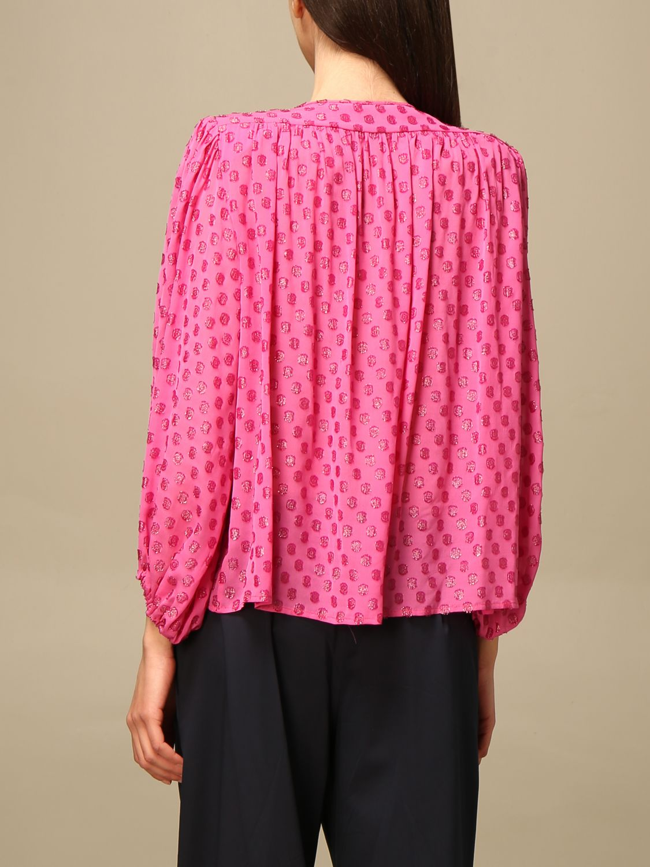Hemdbluse L'autre Chose: Hemdbluse damen L'autre Chose pink 3
