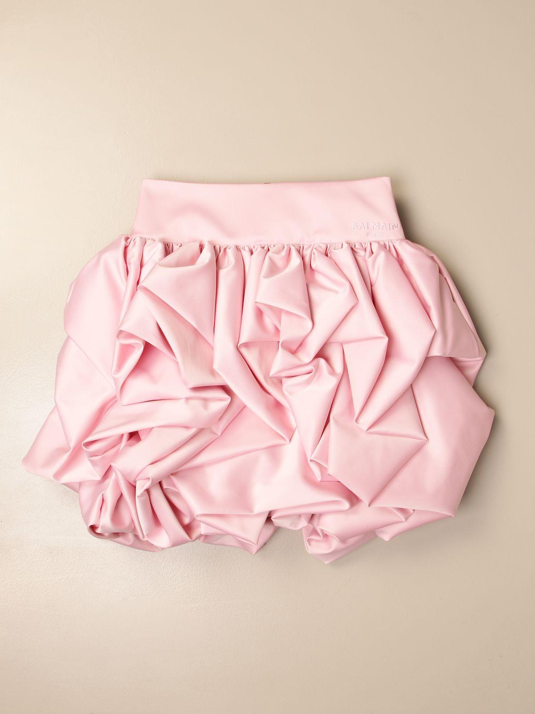 Falda Balmain: Falda niños Balmain rosa 1