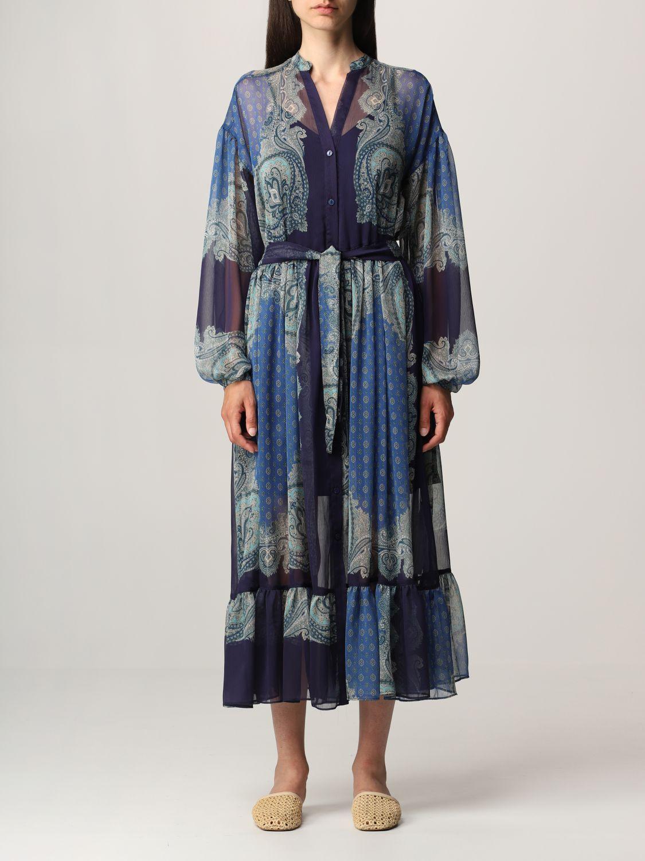 Vestido Twin Set: Vestido mujer Twin Set azul oscuro 1