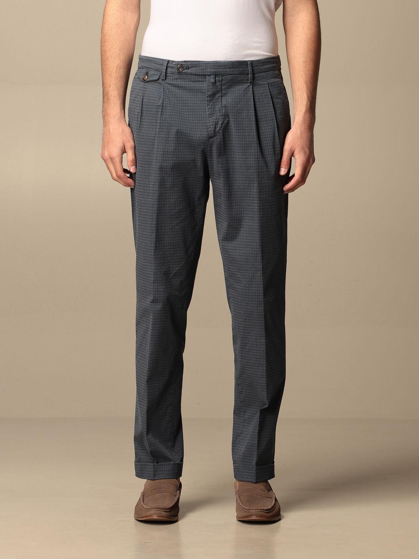 Pantalone Briglia: Pantalone classic Briglia a micro fantasia blue 1