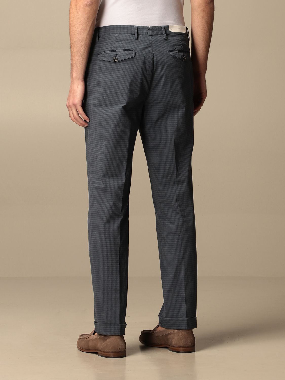 Pantalone Briglia: Pantalone classic Briglia a micro fantasia blue 2