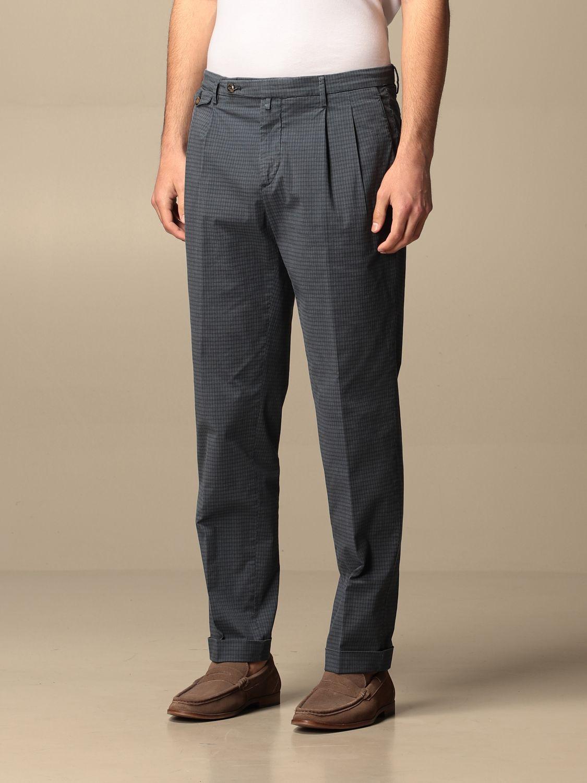 Pantalone Briglia: Pantalone classic Briglia a micro fantasia blue 3