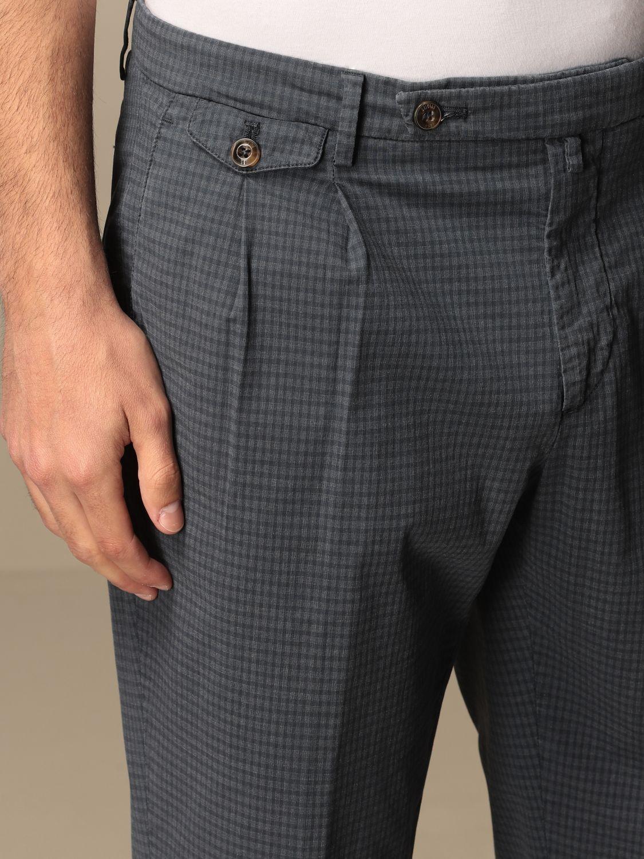 Pantalone Briglia: Pantalone classic Briglia a micro fantasia blue 4