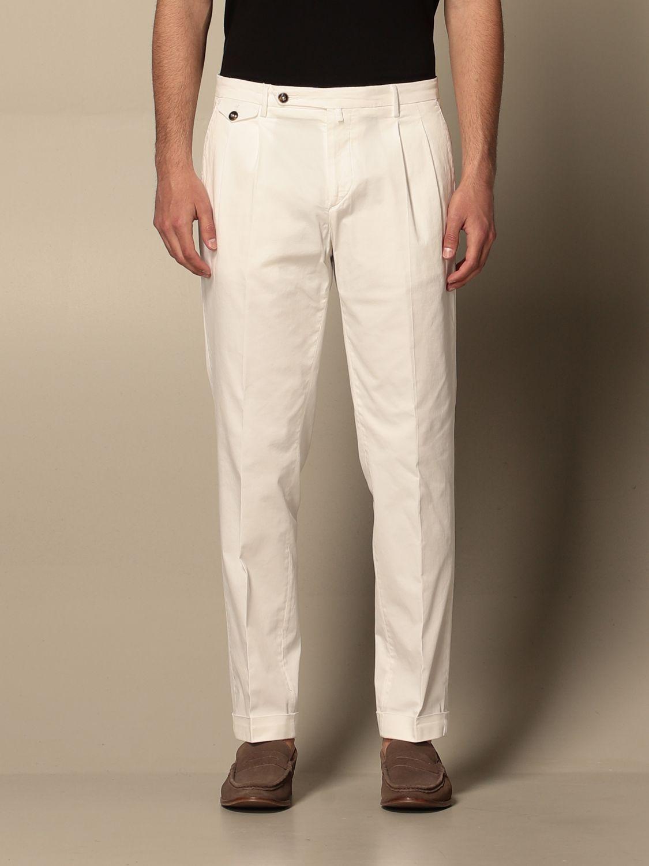 Pantalone Briglia: Pantalone Briglia con tasche america bianco 1