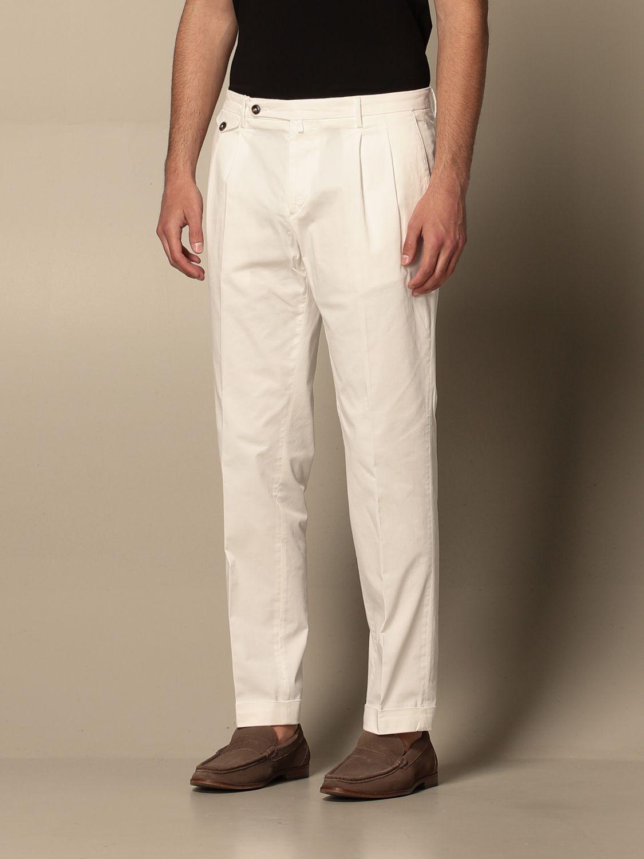 Pantalone Briglia: Pantalone Briglia con tasche america bianco 3