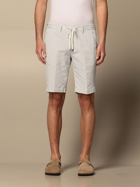 Pantaloncino Briglia: Pantaloncino Briglia a micro righe bianco 1