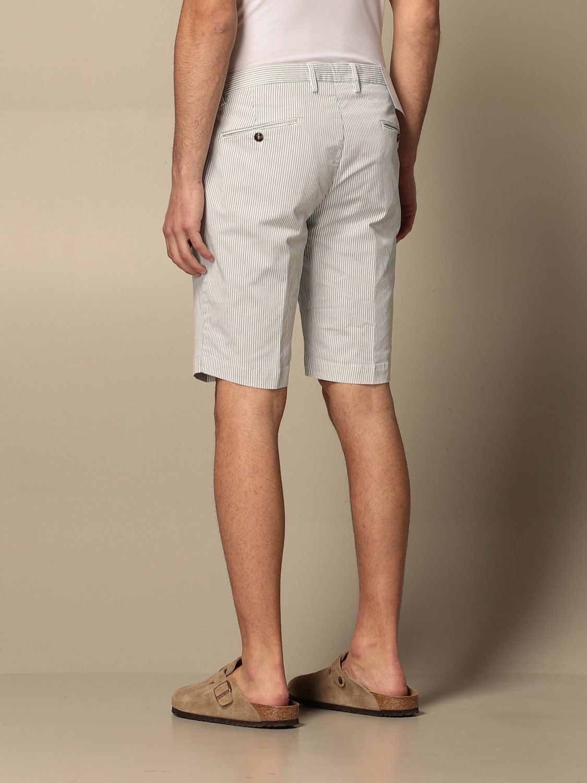 Pantaloncino Briglia: Pantaloncino Briglia a micro righe bianco 2