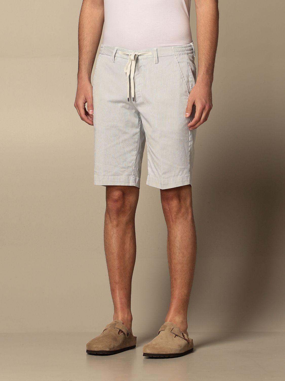 Pantaloncino Briglia: Pantaloncino Briglia a micro righe bianco 3