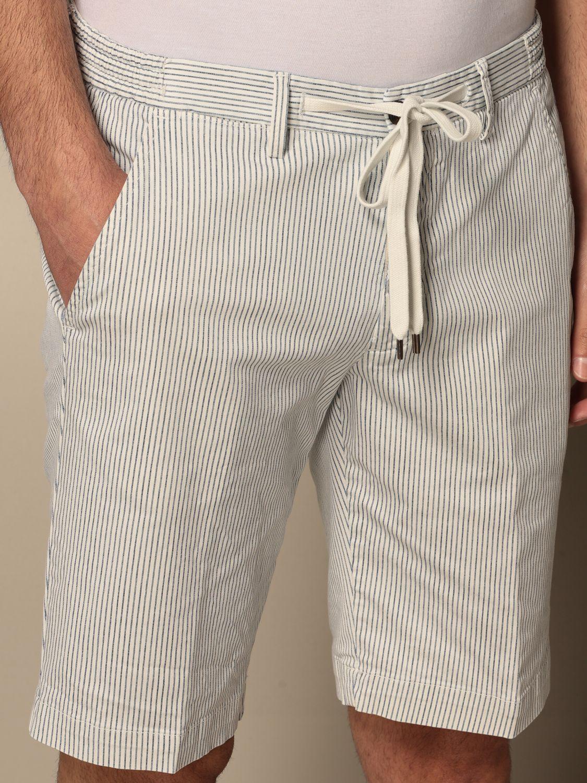 Pantaloncino Briglia: Pantaloncino Briglia a micro righe bianco 4