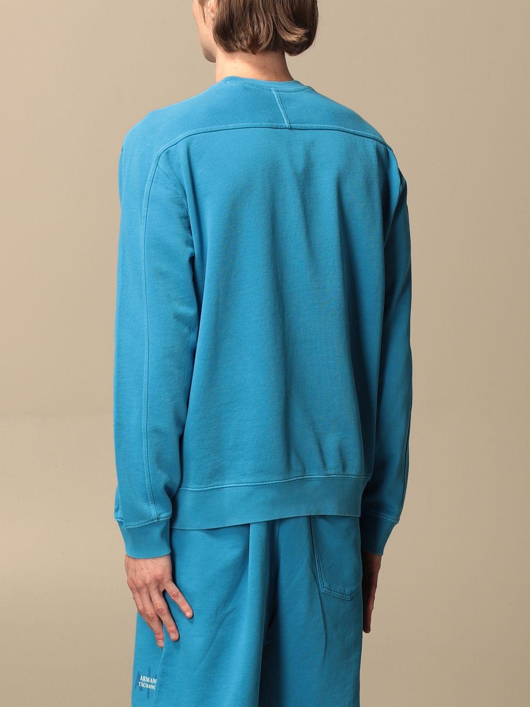 Felpa Armani Exchange: Felpa a girocollo Armani Exchange con logo blue 2