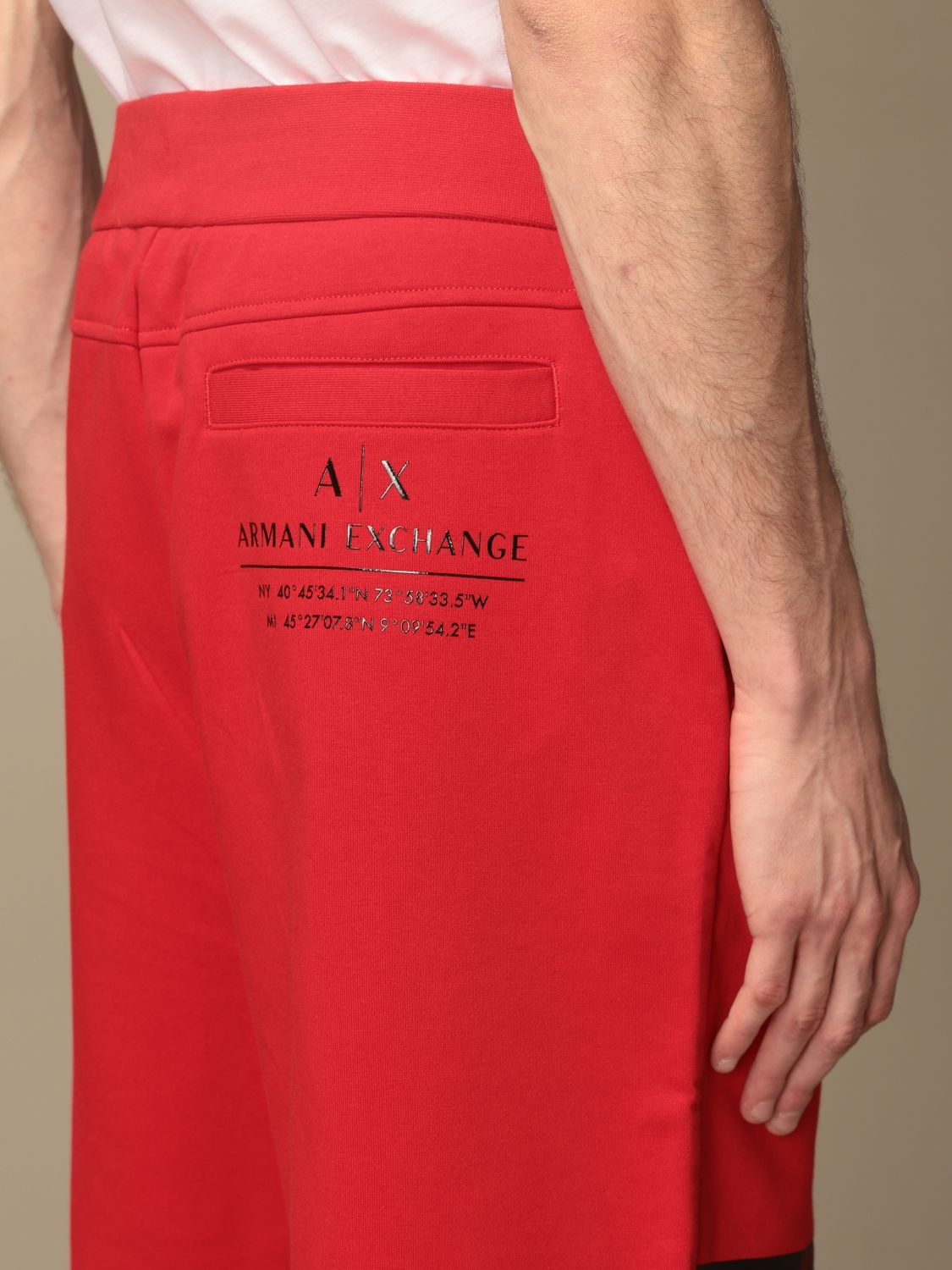 Trousers Armani Exchange: Trousers men Armani Exchange red 4