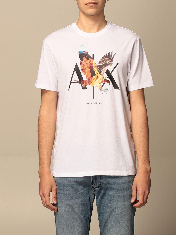 T-shirt Armani Exchange: Armani Exchange cotton T-shirt with print white 1