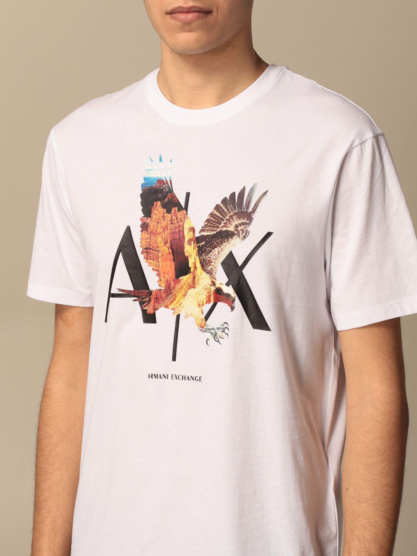 T-shirt Armani Exchange: Armani Exchange cotton T-shirt with print white 3