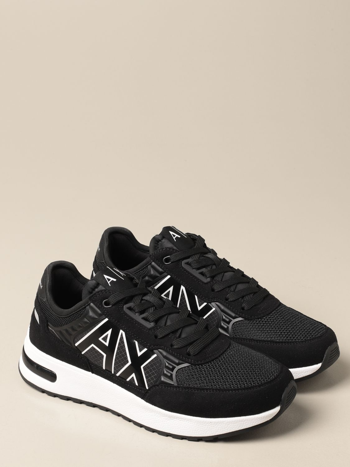 Sneakers Armani Exchange: Armani Exchange sneakers in fabric and synthetic suede black 2