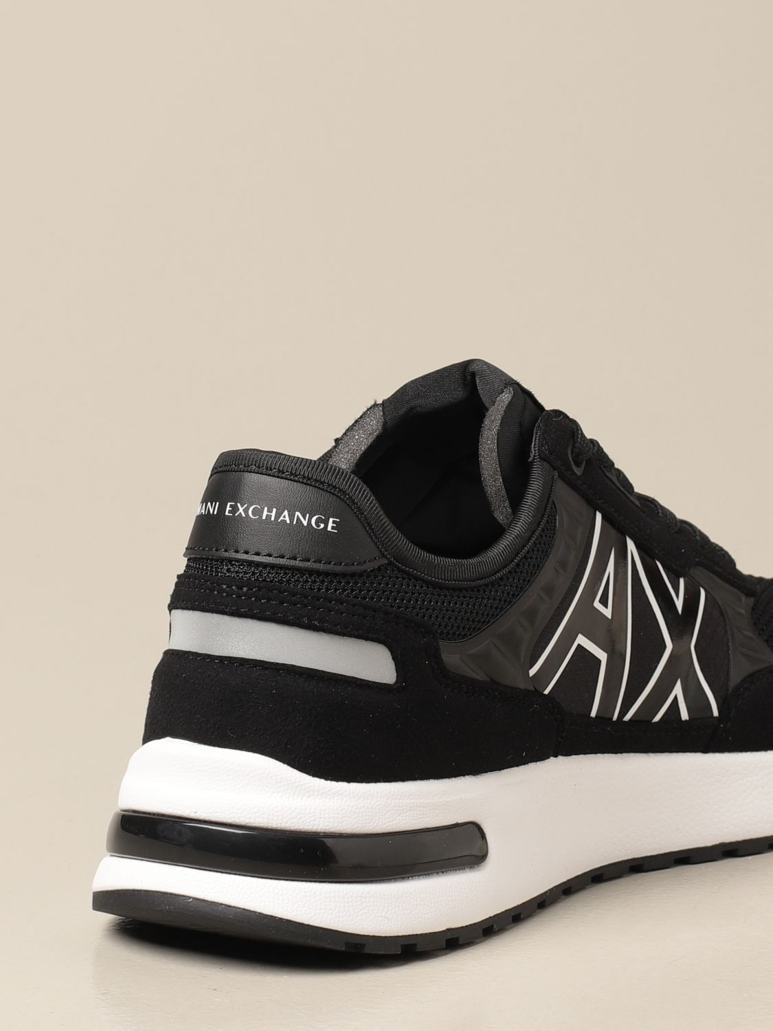 Sneakers Armani Exchange: Armani Exchange sneakers in fabric and synthetic suede black 3