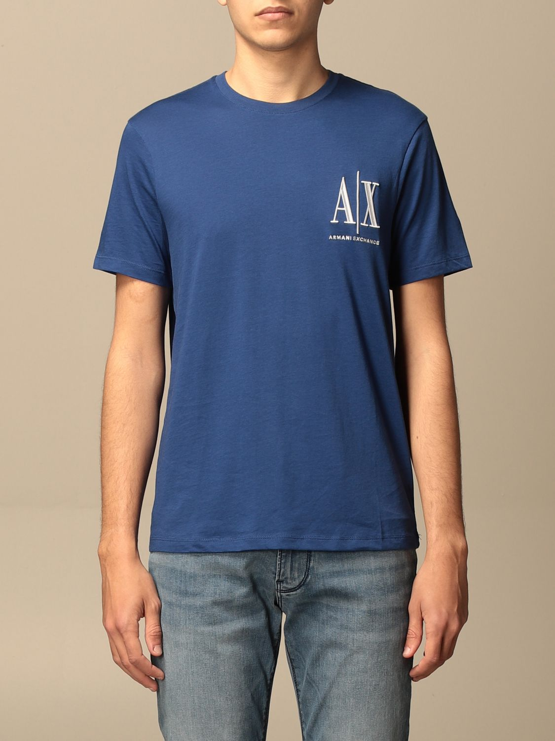 T-shirt Armani Exchange: Armani Exchange T-shirt with logo blue 1