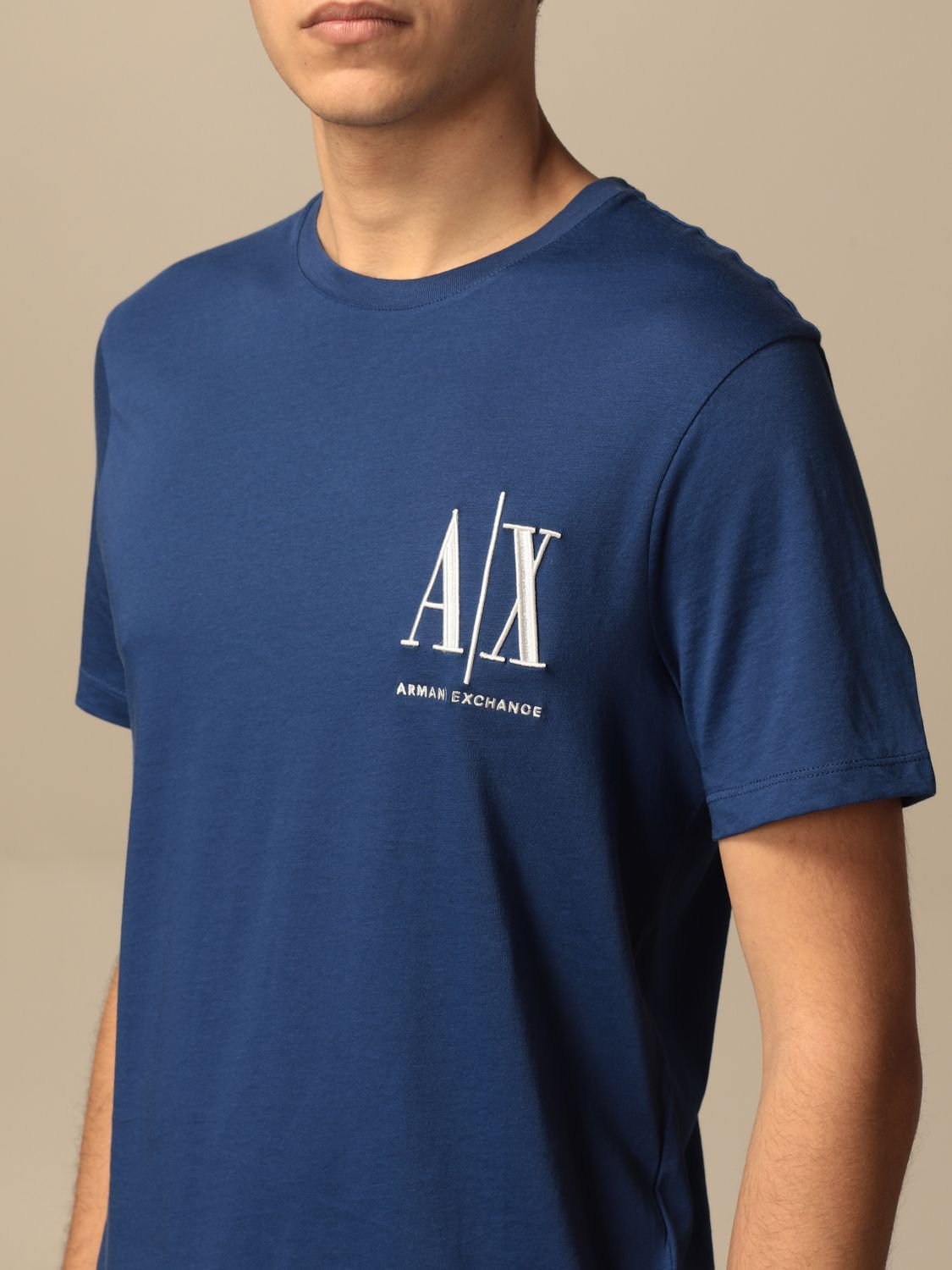 T-shirt Armani Exchange: Armani Exchange T-shirt with logo blue 3