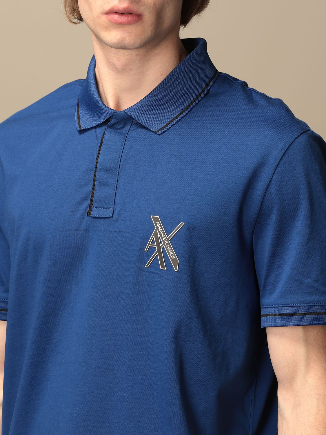 Polo shirt Armani Exchange: Polo shirt men Armani Exchange blue 3