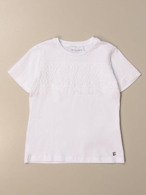 T-shirt Ermanno Scervino: T-shirt Ermanno Scervino in cotone bianco 1