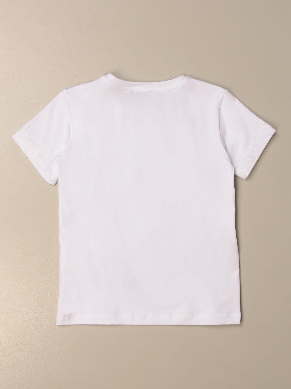 T-shirt Ermanno Scervino: T-shirt Ermanno Scervino in cotone bianco 2
