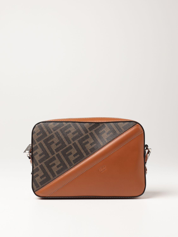 Shoulder bag Fendi: Fendi leather bag with FF logo brown 1