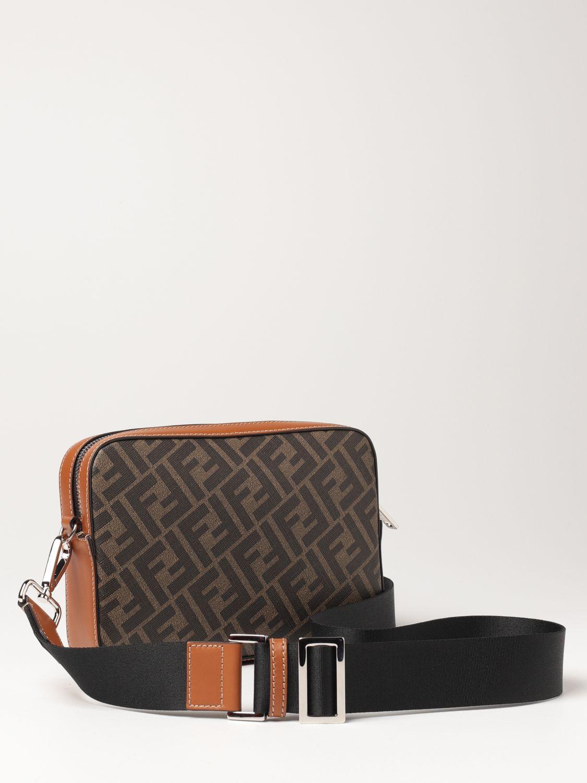 Shoulder bag Fendi: Fendi leather bag with FF logo brown 3