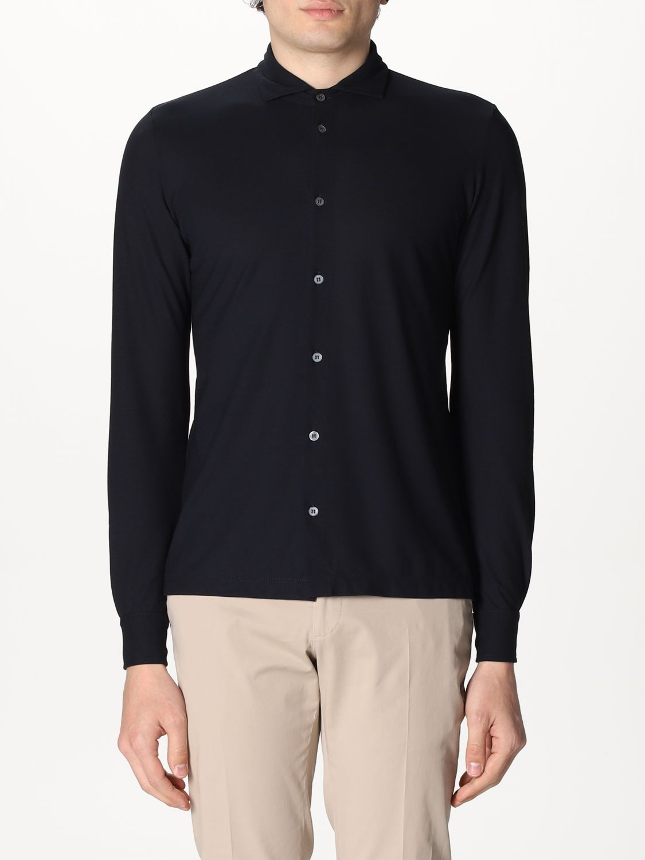 Camisa Zanone: Camisa hombre Zanone azul oscuro 1