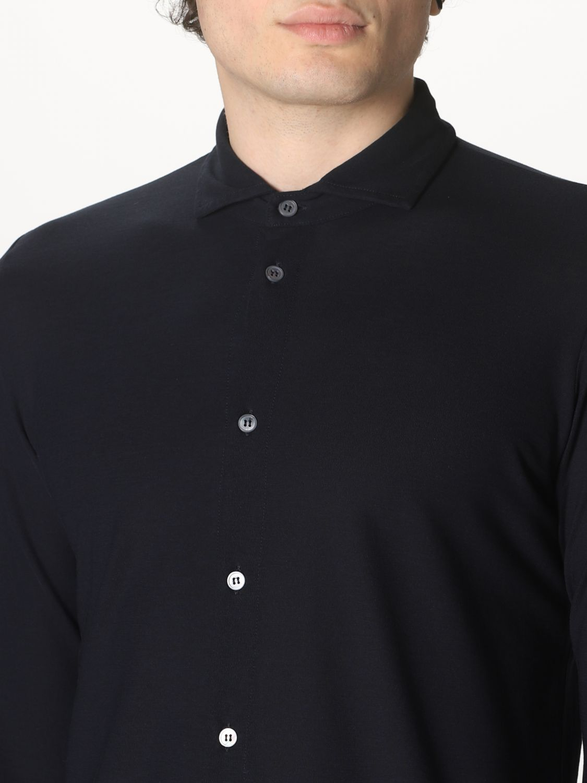 Camisa Zanone: Camisa hombre Zanone azul oscuro 3