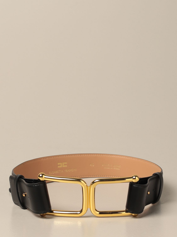 Cintura Elisabetta Franchi: Cintura Elisabetta Franchi in pelle nero 1