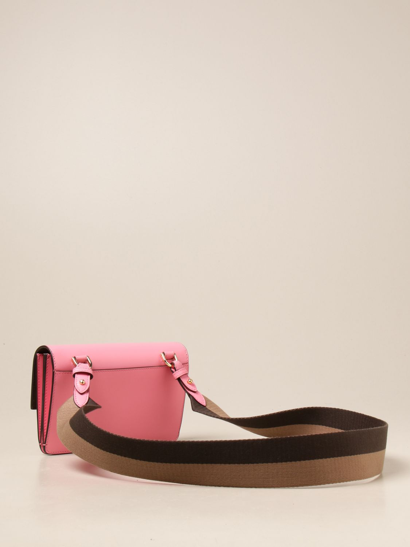 Crossbody bags Fendi: Baguette bag Fendi in leather pink 3
