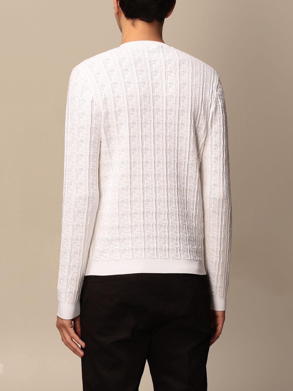 Jumper Fendi: Fendi crewneck jumper with FF monogram white 3