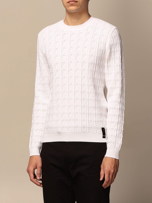 Jumper Fendi: Fendi crewneck jumper with FF monogram white 4