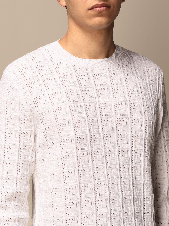 Jumper Fendi: Fendi crewneck jumper with FF monogram white 5